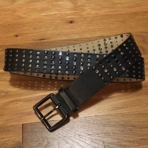 Betsey Johnson Black Studded Belt